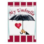 My umbrella my shelter 1 greeting card
