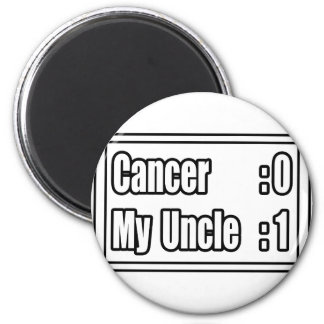 My Uncle Beat Cancer (Scoreboard) Refrigerator Magnets