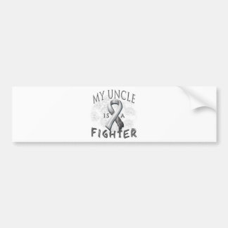 My Uncle Is A Fighter Grey Bumper Sticker