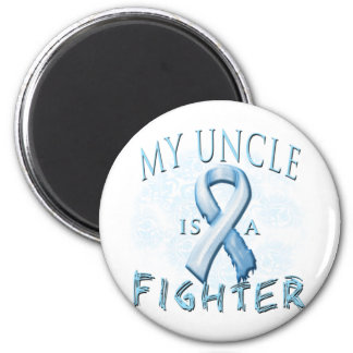 My Uncle is a Fighter Light Blue 2 Inch Round Magnet
