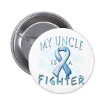 My Uncle is a Fighter Light Blue Pinback Buttons