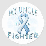My Uncle is a Fighter Light Blue Sticker