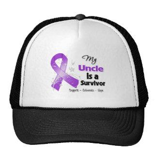 My Uncle is a Survivor Purple Ribbon Mesh Hats