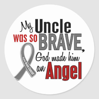 My Uncle Is An Angel 1 Brain Cancer Classic Round Sticker