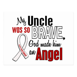 My Uncle Is An Angel Lung Cancer Postcard