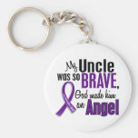 My Uncle Is An Angel Pancreatic Cancer Keychain