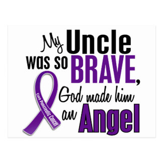 My Uncle Is An Angel Pancreatic Cancer Postcard