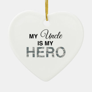 My Uncle is my Hero Digital Camouflage Ceramic Ornament