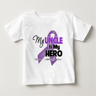 My Uncle is My Hero - Purple Ribbon Baby T-Shirt