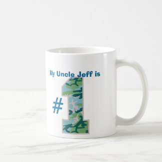 My UNCLE is Number One Custom Name Blue Green Camo Coffee Mug