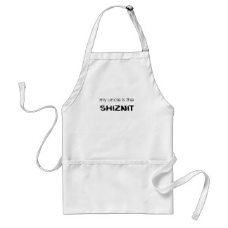 my uncle is the shiznit.png adult apron