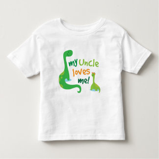 My Uncle Loves Me Dinosaur Toddler T-shirt