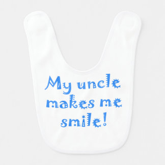 My Uncle Makes Me Smile Bibs