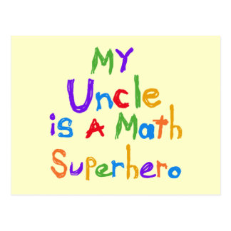 My Uncle Math Superhero T-shirts and Gifts Post Cards