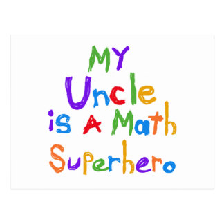 My Uncle Math Superhero T-shirts and Gifts Postcards