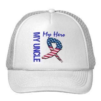 My Uncle My Hero Patriotic Grunge Ribbon Trucker Hat
