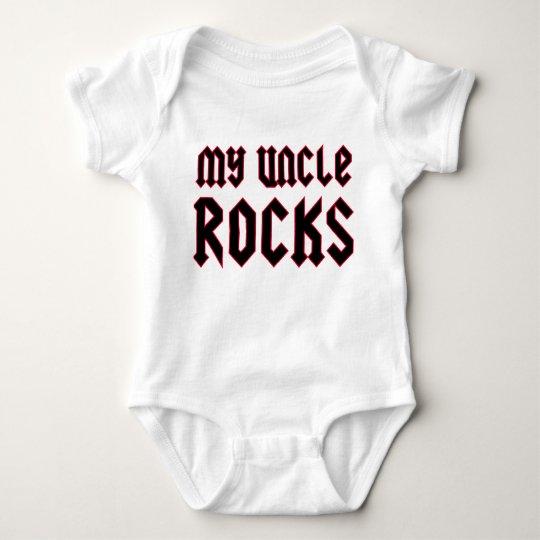 My Uncle Rocks Baby Bodysuit