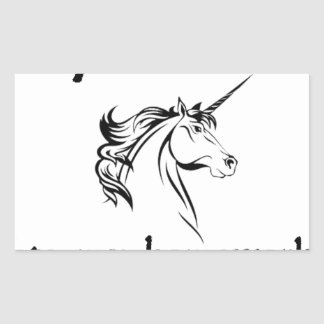 my unicorn ate my home work rectangular sticker