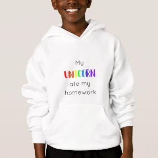 My Unicorn Ate My Homework Hoodie