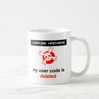 my user code is deleted mug