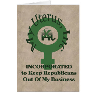 My Uterus, Inc Card