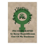 My Uterus, Inc Large Business Cards (Pack Of 100)