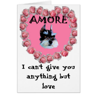 My Valentine Amore, I can't give you anything but  Greeting Card