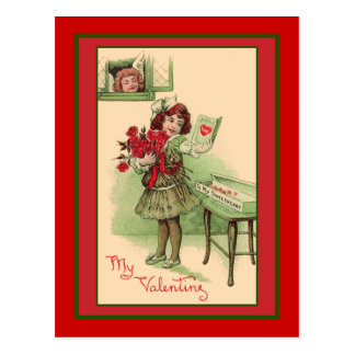 My Valentine Cute Vintage Art Cards and Postcards