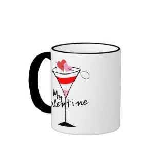 My Valentine Martini Mugs