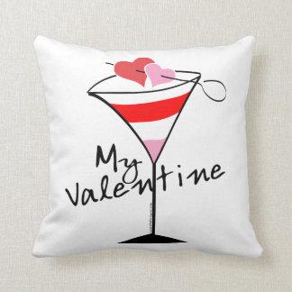 My Valentine Heart Martini Design Pillows