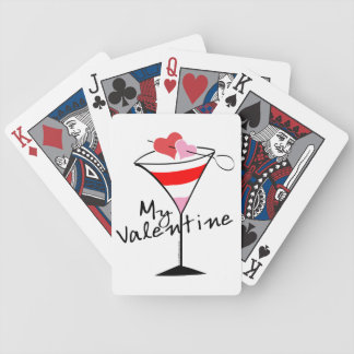 My Valentine Heart Martini Design Bicycle Playing Cards