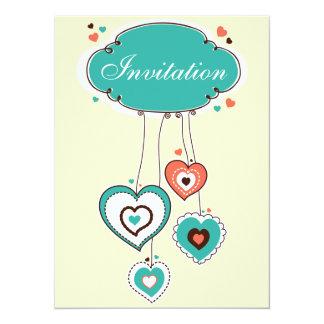 My Valentine Hearts Card