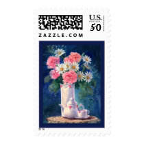 MY VALENTINE HEARTS, CARNATIONS & LACE by SHARON Postage