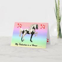 My Valentine Horse Greeting Card