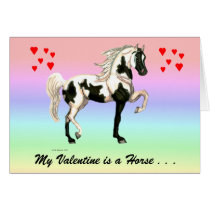 My Valentine Horse Greeting Card