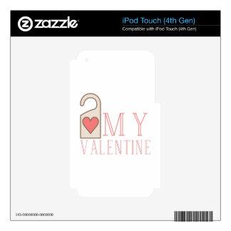 My Valentine iPod Touch 4G Decals