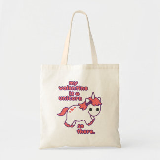 My Valentine is a Unicorn Tote Bag