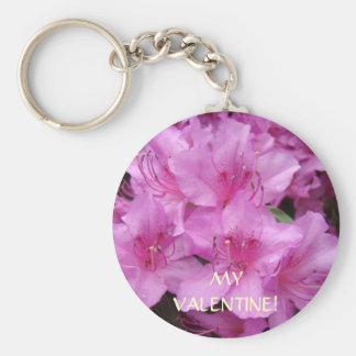 MY VALENTINE! Keychain Pink Azalea Flowers