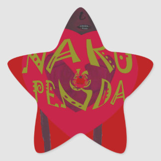 My Valentine love you Nakupenda Kenya Swahili Art. Star Sticker