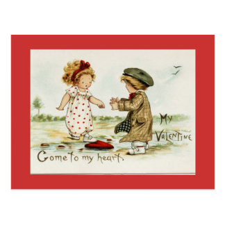 My Valentine Vintage Reproduction Postcard