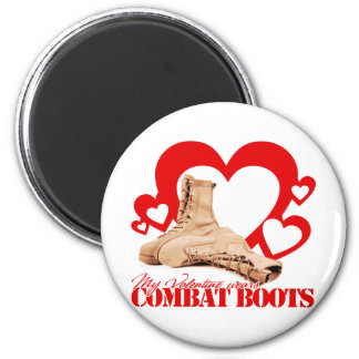 My Valentine wears combat boots Magnet