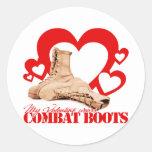 My Valentine wears combat boots Sticker