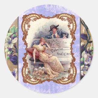 My Victorian Valentine Classic Round Sticker
