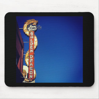 My Vintage Life - Golden Dragon Neon Sign Mouse Pad