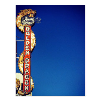 My Vintage Life - Golden Dragon Neon Sign Postcard