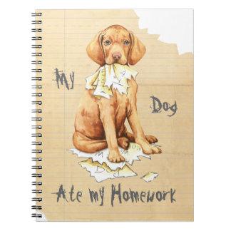 My Vizsla Ate My Homework Note Book