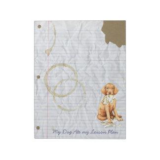 My Vizsla Ate my Lesson Plan Notepad