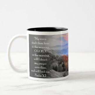 """My voice shalt thou hear in the morning..."" Two-Tone Coffee Mug"