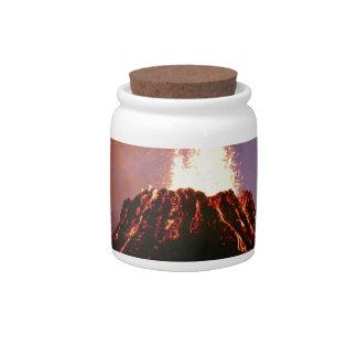 my volcano mind candy jar