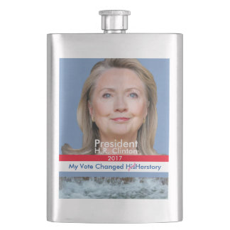 My Vote Changed Herstory President H.R. Clinton Hip Flasks